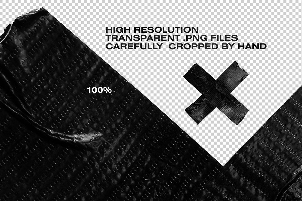 Isolated Adhesive Tape Pieces Black Duct Tape Adhesive Tape Graphic Design Resources