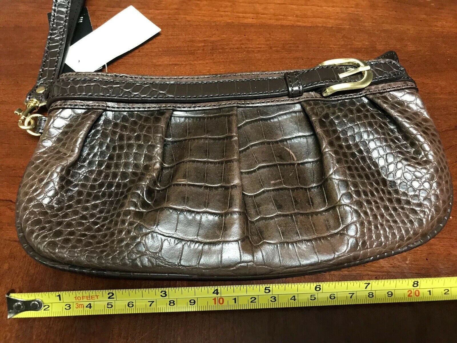 NEW Genuine Leather Joy Mangano Purse Tote w// RFID Clutch Handbag Pocketbook