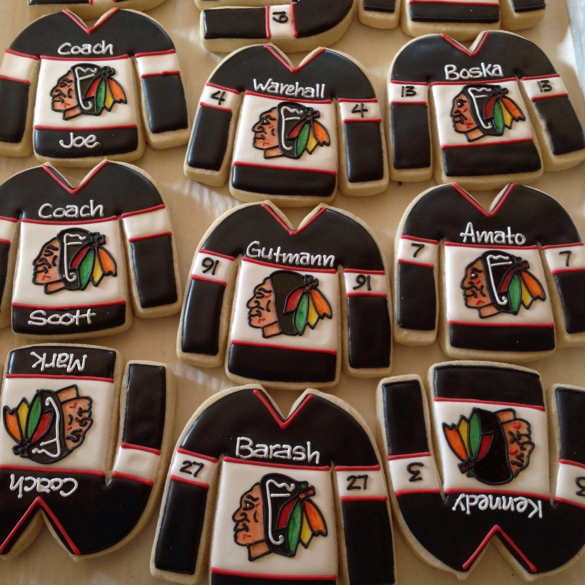 Hockey jersey cookies my cookies pinterest hockey