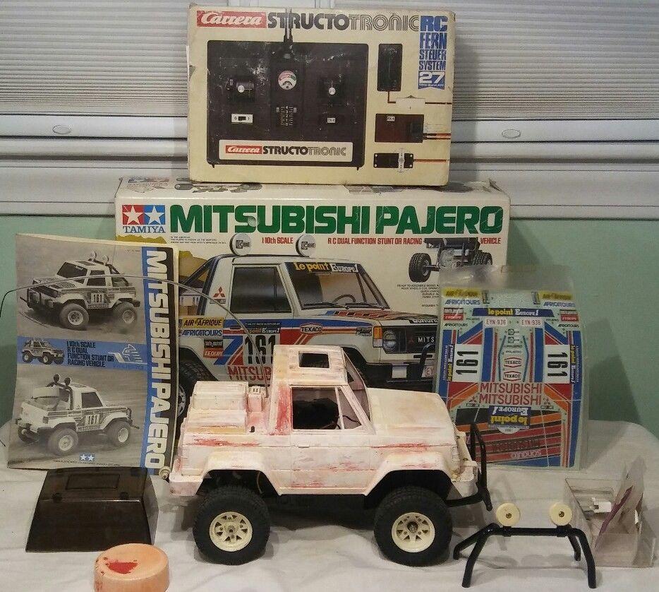 Vintage Tamiya Mitsubishi Pajero R/C truck Box & Decals