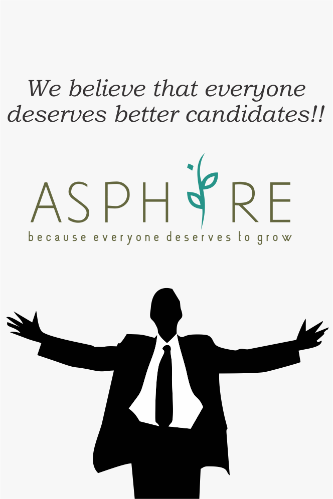 Asphire.in deal in jobs like ‪#‎Drivers‬, ‪#‎Receptionist‬, office boys, Cooks, Delivery boy, BPO executives. We have 25 categories catering to similar job. We believe the everyone deserves better candidates !! Visit us on :- www.asphire.in & Registration missed call : - 08100050505 ‪#‎Jobs‬ ‪#‎todayjob‬ ‪#‎asphirejobs‬