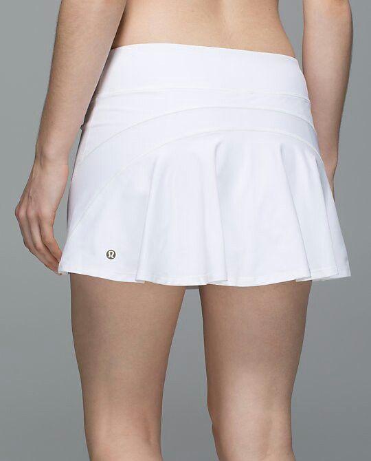 Lululemon Ace Skirt 58 00 White Tennis Skirt Outfit Lululemon Outfits White Tennis Skirt