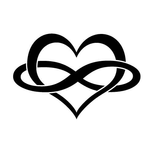 heart and infinity symbol tumblr family tattoos