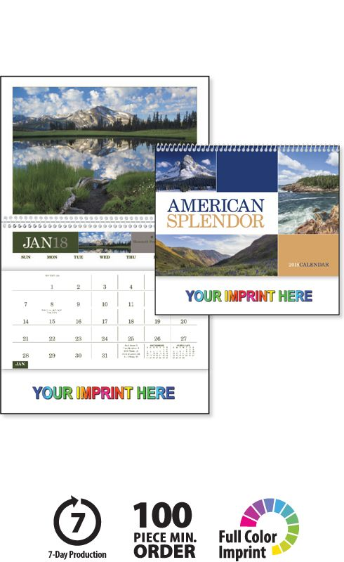 2018 american splendor pocket calendar imprinted spiral bound