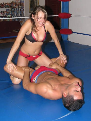 Antscha mixed wrestling female domination 7