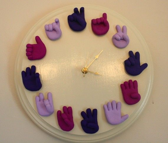 American Sign Language clock