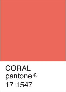 My color inspiration comes from #Pantone #Coral. It's a ...