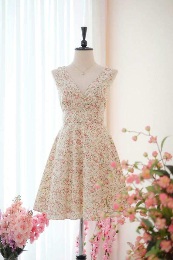 0c9565855e Pale Yellow dress Bridesmaid dress Floral dress Vintage dress Country dress  Hippie dress Summer dress Sundress Tea dress
