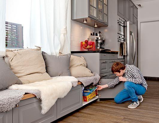 kitchen bench with storage underneath ikea kitchen...instead of the ...