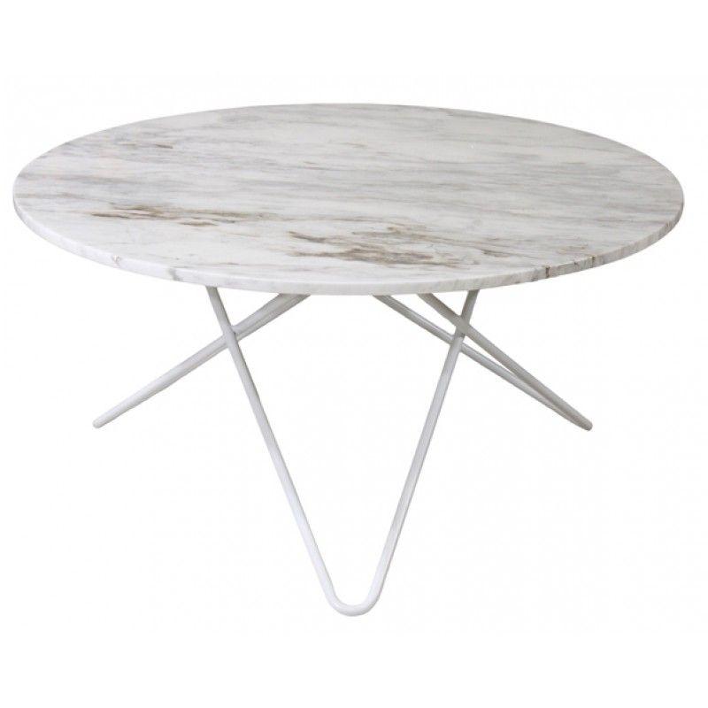Kända Topp - runt marmor soffbord med vitt underrede Ø: 80cm | Inredning DM-09