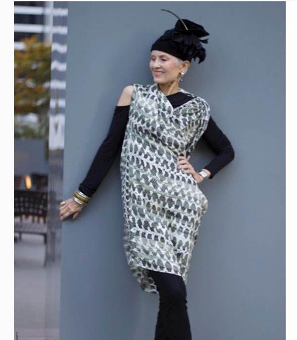 7e1b85e6bd0 40plusstyle inspiration: ideas on how to wear an asymmetrical dress with  leggings | 40plusstyle.com