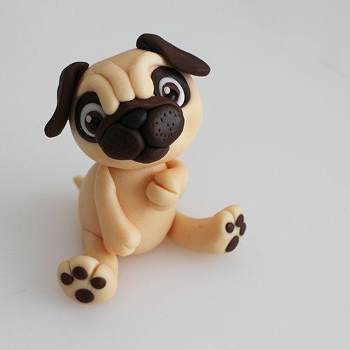 6 Fondant Dog Cake Topper Tutorials Fondant Dog Dog Cakes Dog