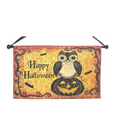 Take a look at this Owl Halloween Banner by GANZ on #zulily today!