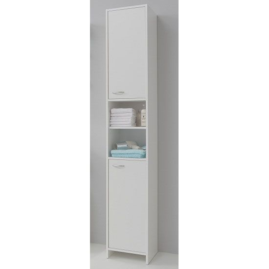 Madrid3 Bathroom High Cabinet In White
