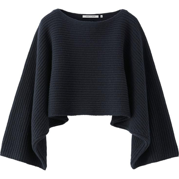 WOMEN LEMAIRE LAMBSWOOL CROPPED SWEATER | Lemaire and Uniqlo ...