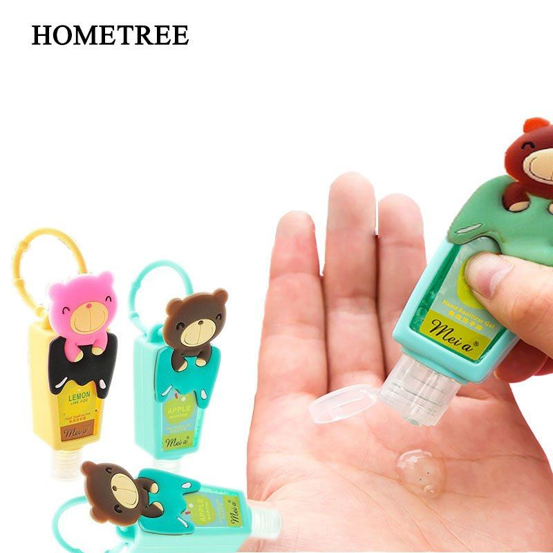 Hometree 1pc Cartoon Bear Portable Hand Sanitizer Bag Hangable