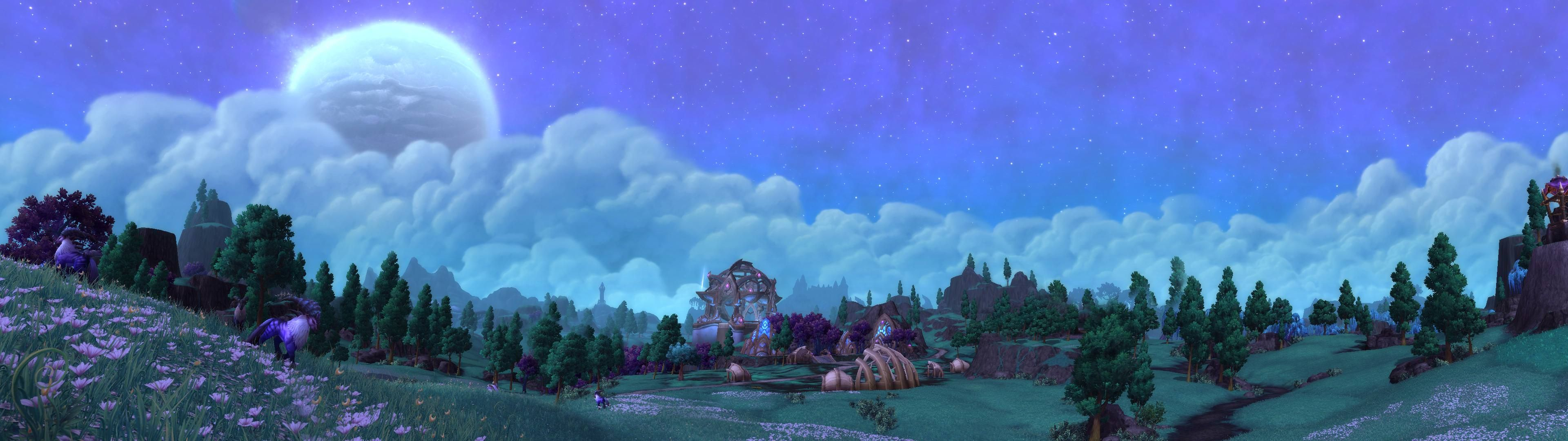 I Ve Enjoyed Trying To Make These So Here S Another Dual Wallpaper Of Shadowmoon Valley Draenor 3840x1080 Worldofwarcr In Wallpaper Warcraft World Of Warcraft