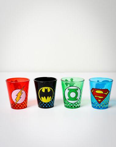 comic shot glasses