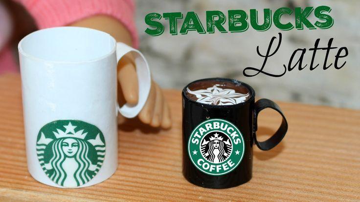 DIY Starbucks Latte | American Girl Doll Craft #american #craft #latte #starbucks #fashion #americangirlhouse