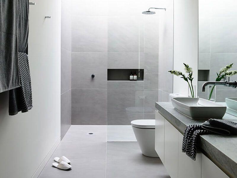 How to Build the Easiest Bathroom to Clean | Bathroom remodel cost, Simple  bathroom, Small bathroom remodel