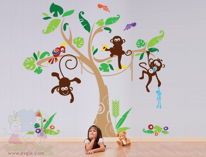 THE ORIGINAL Nursery Kids Removable Wall Vinyl Decal Children Wall - Kids wall decals jungle