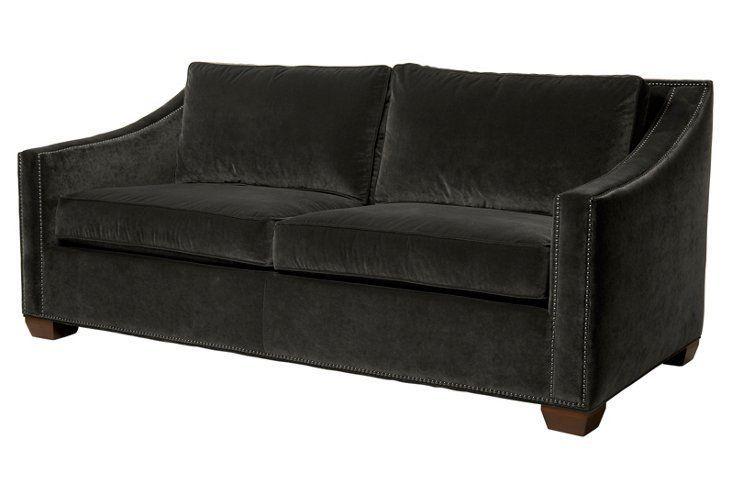 Astonishing Darragh 77 Velvet Sofa Wenge This Sofas Clean Modern Evergreenethics Interior Chair Design Evergreenethicsorg