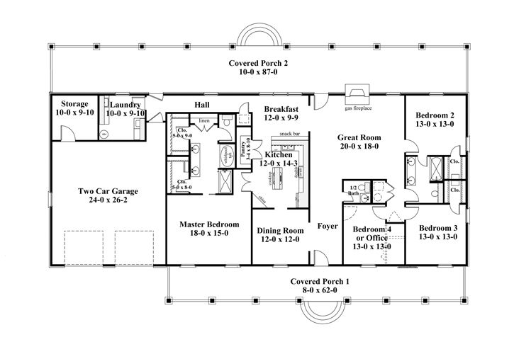 Persephone 8228 4 Bedrooms And 2 Baths The House Designers Metal House Plans Rectangle House Plans Ranch Style House Plans
