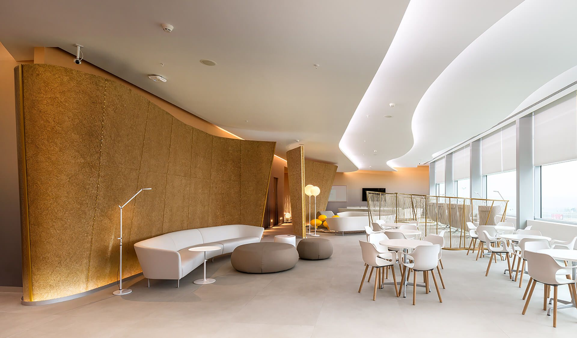 The New Vip Lounge At The Platov Airport Features An Italian Touch