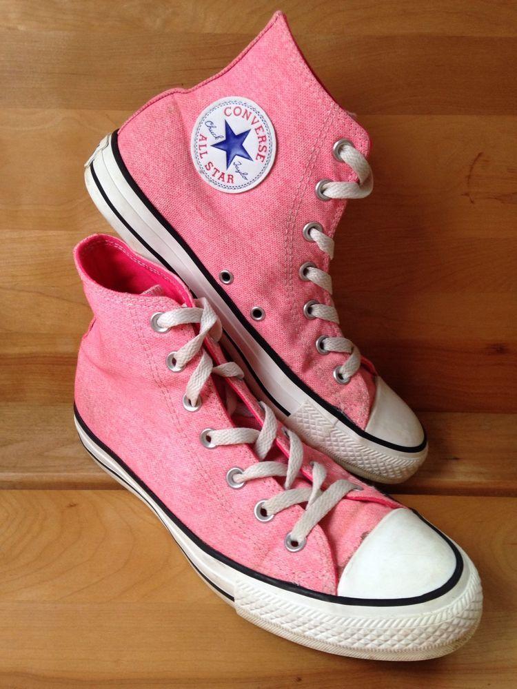 346ec1743d28 Converse All Star Chuck Taylor Pink Canvas High Tops Women s Size 8 Men s  Size 6