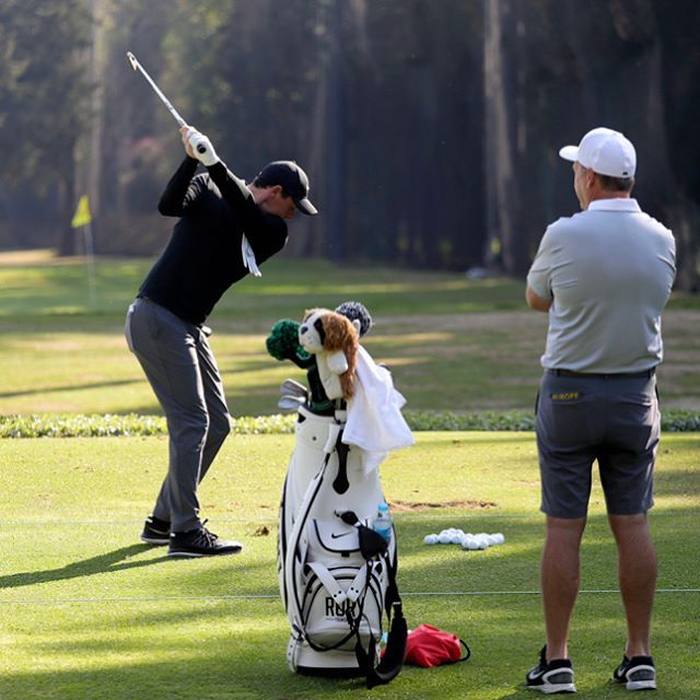 This image of Rory McIlroy is from the range at the WGC