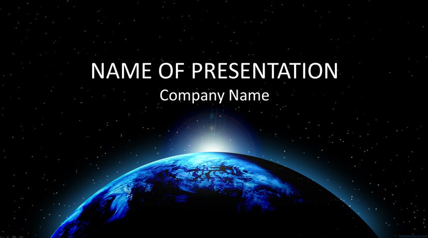 Free Space Graphics Slides Powerpoint Template Powerpoint