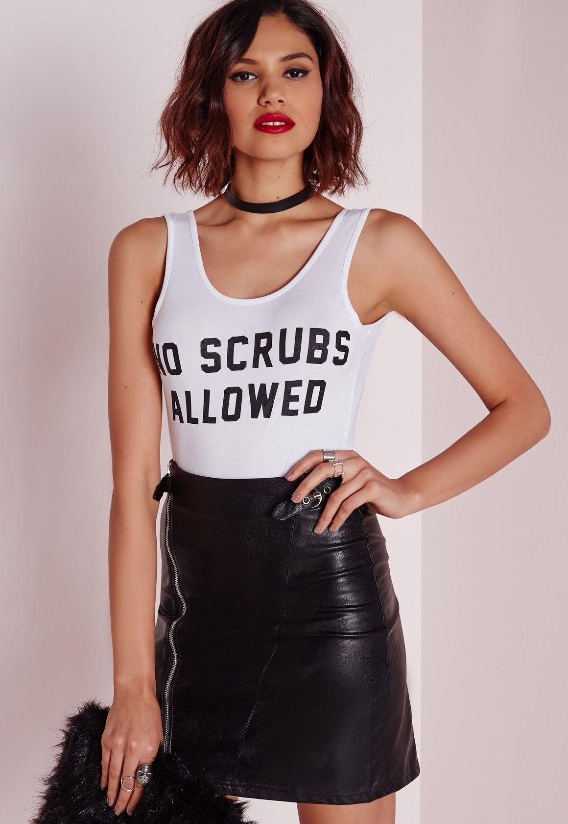 74bc5d71fd7 Missguided - No Scrubs Slogan Bodysuit White | Things to Wear | Tops ...