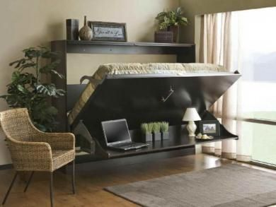 Dual Purpose Furniture   Murphy Bed And Desk