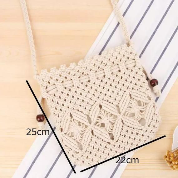 Casual macrame shoulder bag