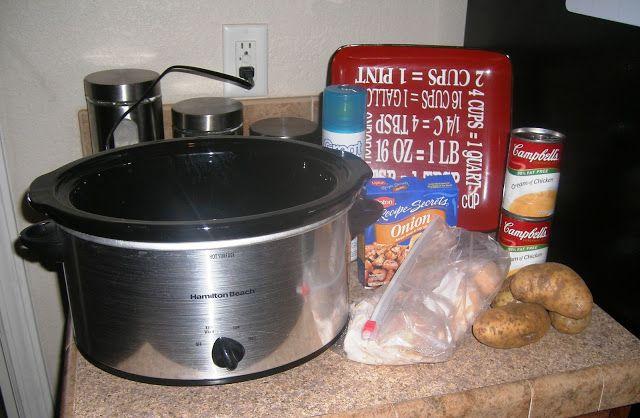 Sunday Chicken with Potatoes Crock Pot Recipe
