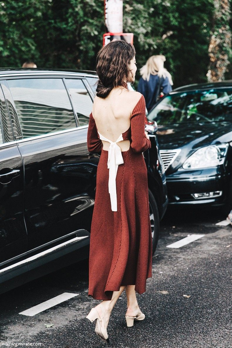 PFW-Paris Fash Spring_Summer_2016-Street_Styl. Leandra_Medine in one of my favourite dresses. Of course I like the blk & wht best & Chanel shoes