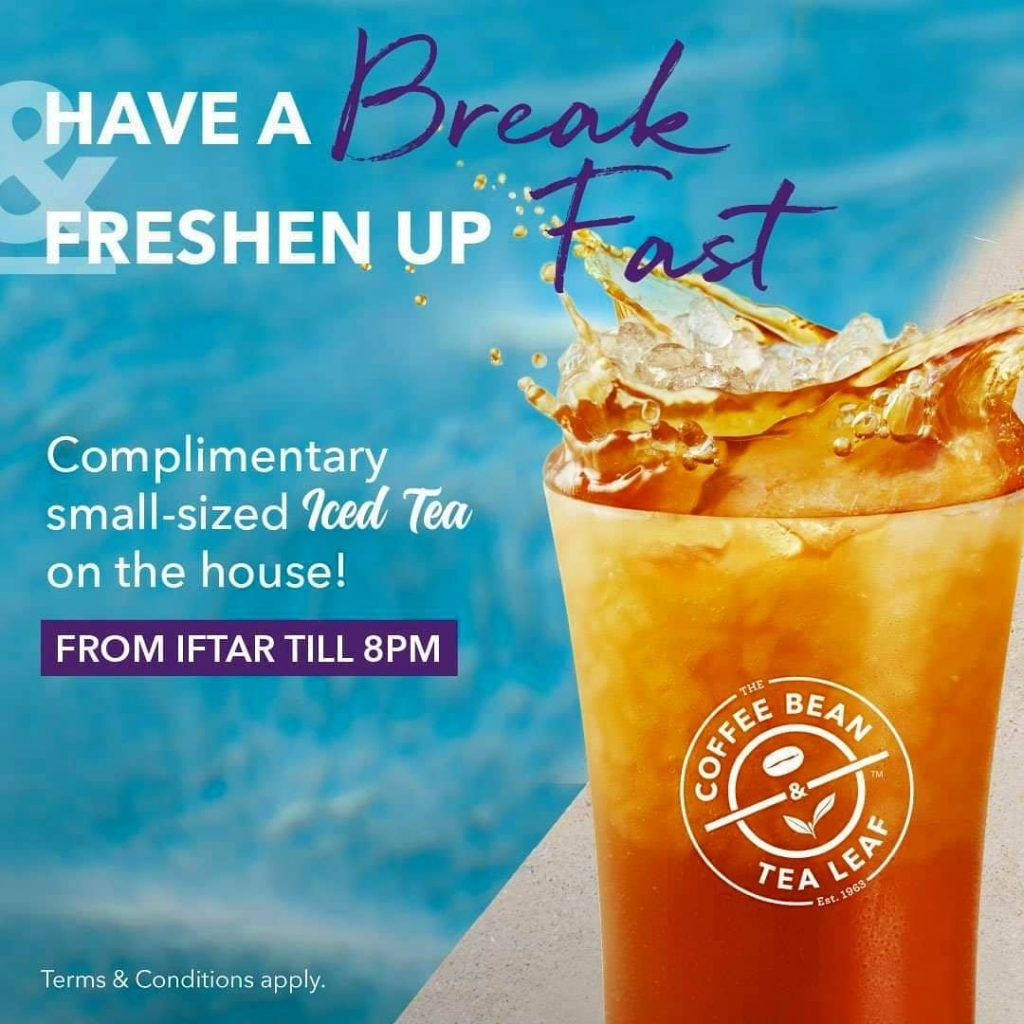 The Coffee Bean Tea Leaf Singapore Free Small Sized Iced Tea Promotion Ends 16 May 2019 Tea Leaves Iced Tea Iftar