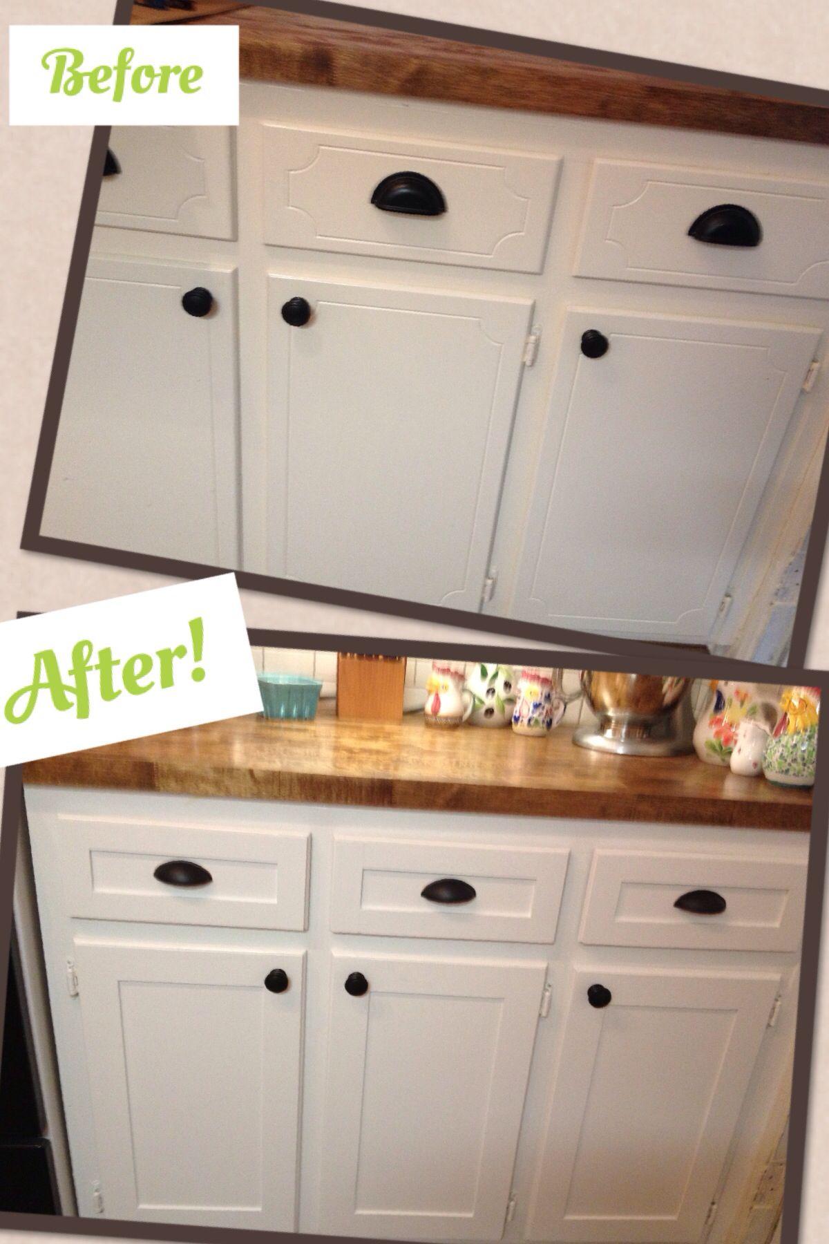 diy kitchen cabinet refacing long islands project shaker trim done