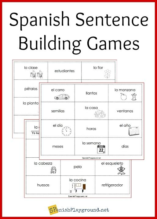 Spanish Sentence Building Games | Sprachen
