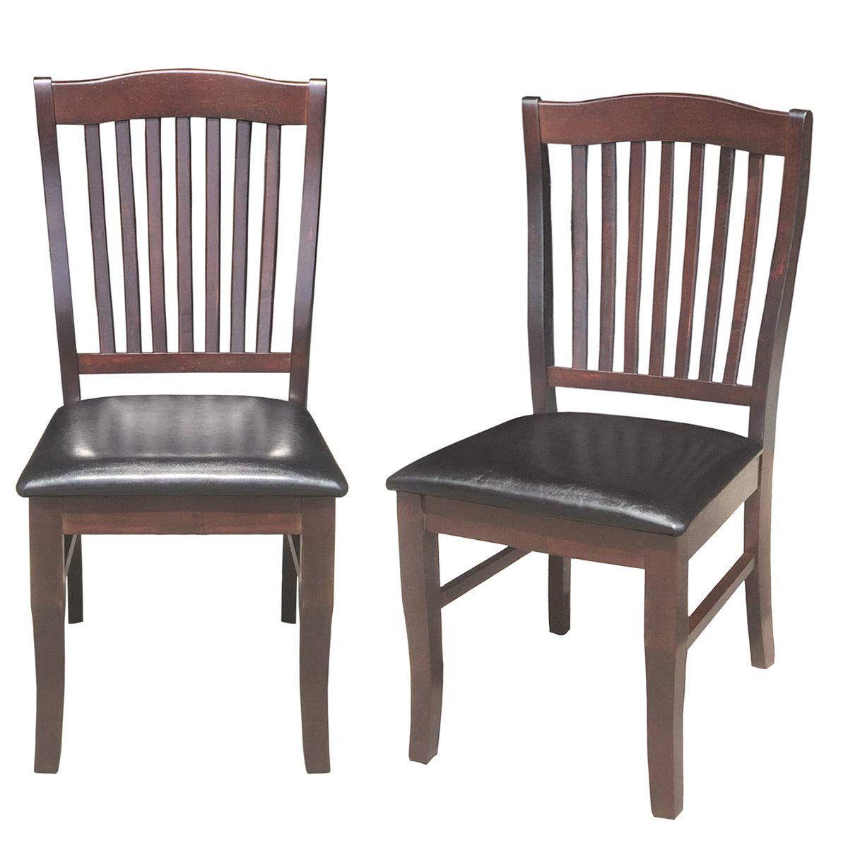 Ghp 2 Pcs 220 Lbs Capacity Black Wood Pu Upholstered Seat