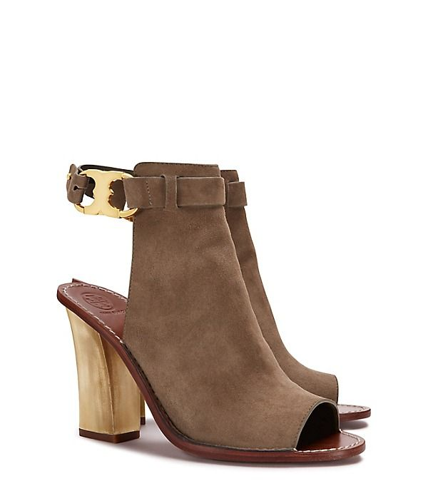 317e889bdb0 Our Gemini Link Peep-Toe Sandal is defined by its standout details. Made of  suede