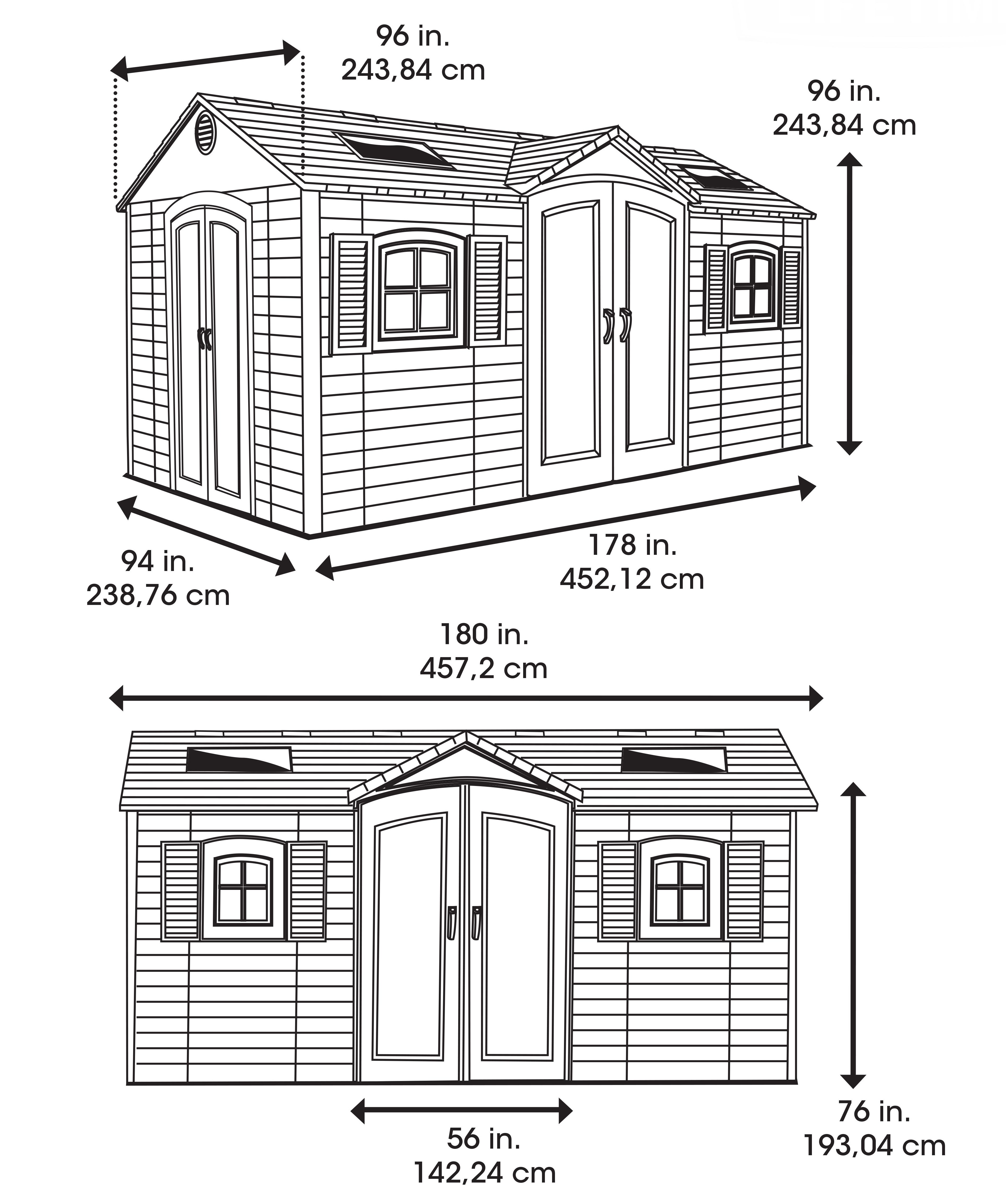 Lifetime Kunststoff Gerätehaus Residenz 457x244x244