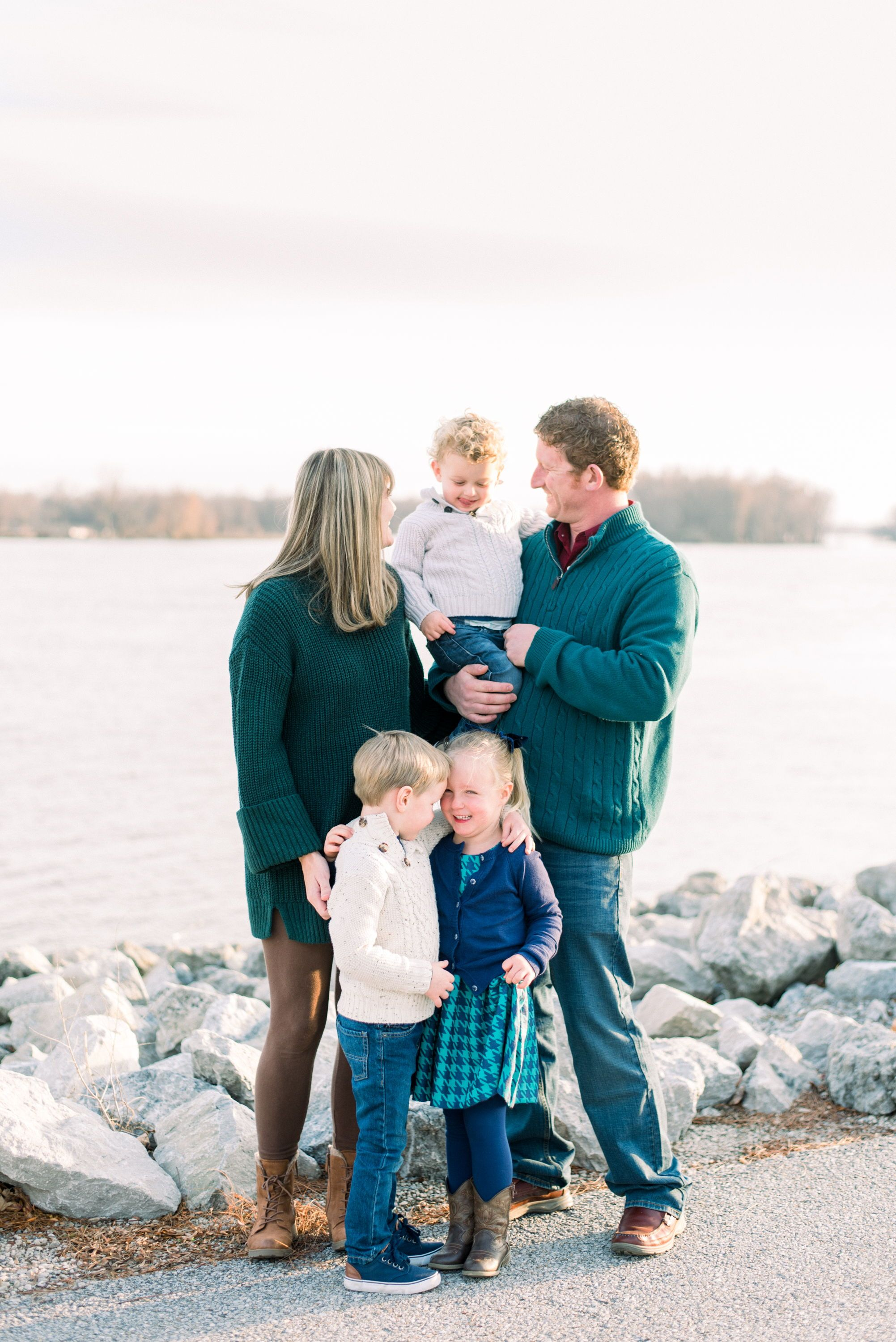 Family pictures at Riverside park in Muscatine Iowa ...