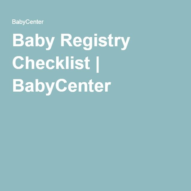 Baby Registry Checklist  Baby Registry Babies And Baby Registry
