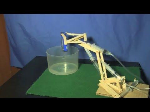 Brazo Robótico Hidráulico Mecánico Casero Hydraulic Robotic Arm home - YouTube