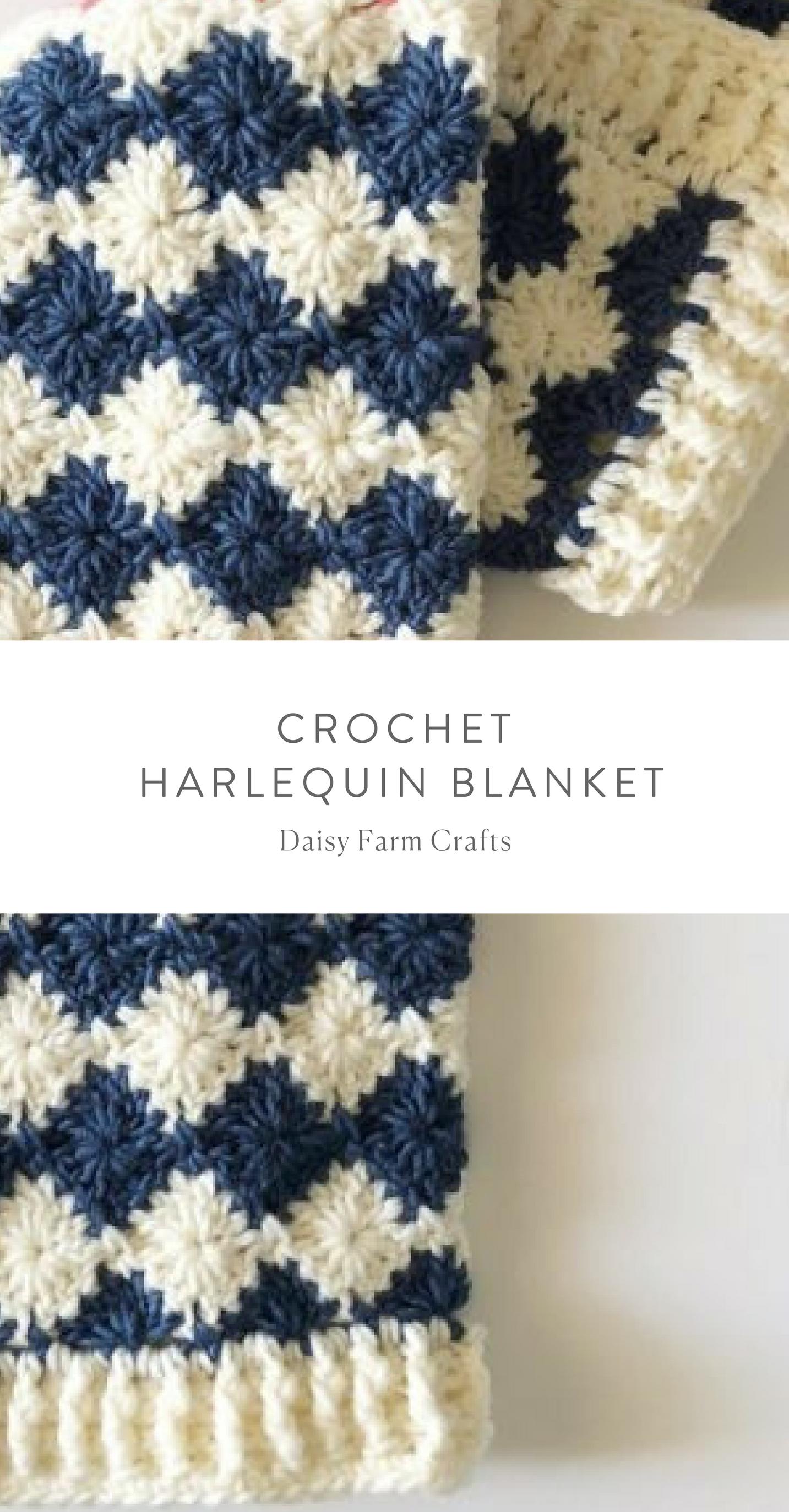 Free Pattern - Crochet Harlequin Blanket #crochet | crochet ...