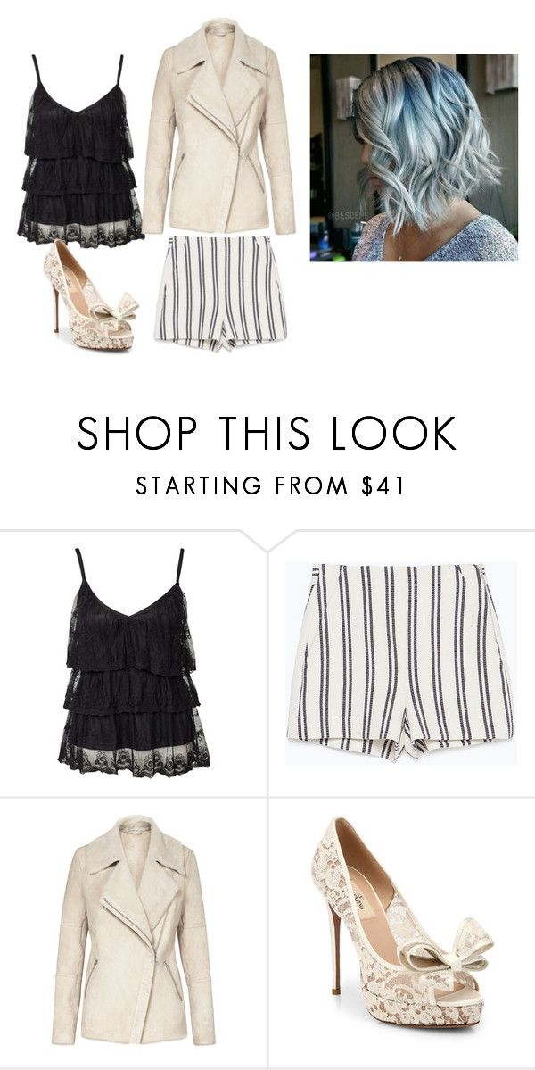 """""""Untitled #12544"""" by jayda365 ❤ liked on Polyvore featuring Jeane Blush, Zara, Reiss and Valentino"""