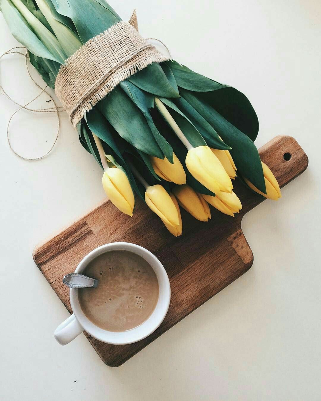 I would love to start each day with coffee and fresh flowers a