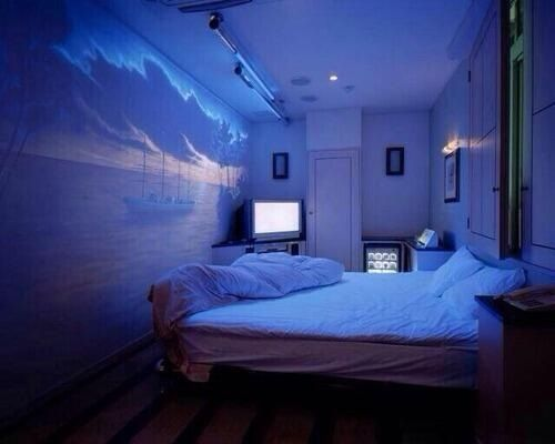 Add a projector to a bedroom wall  Design in 2019  Just