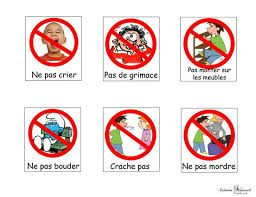 Image Associee Pictogramme Enfant Regle De Vie Tableau De Comportement